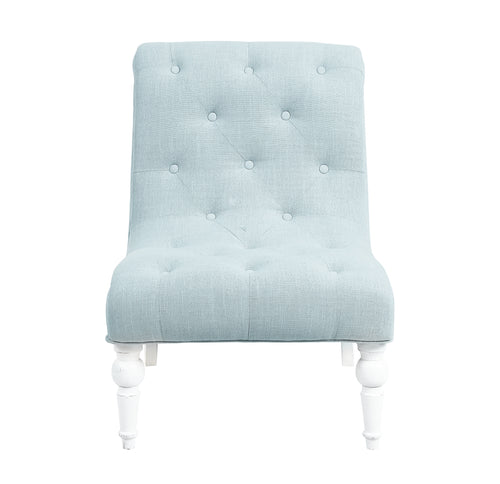 Provincial Leopold Occasional Chair - Ice Blue / White Legs