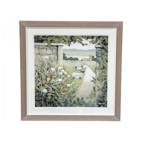 Country Life Print In Natural Frame 42cm  Homewares nz