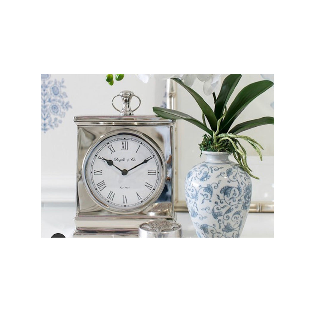 Mantle Clock With White Face 22cm - Small Homewares nz