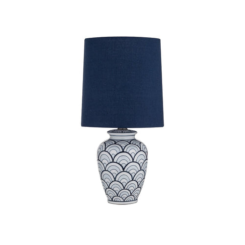 Eldon Table Lamp 23cm - Navy & White Homewares nz