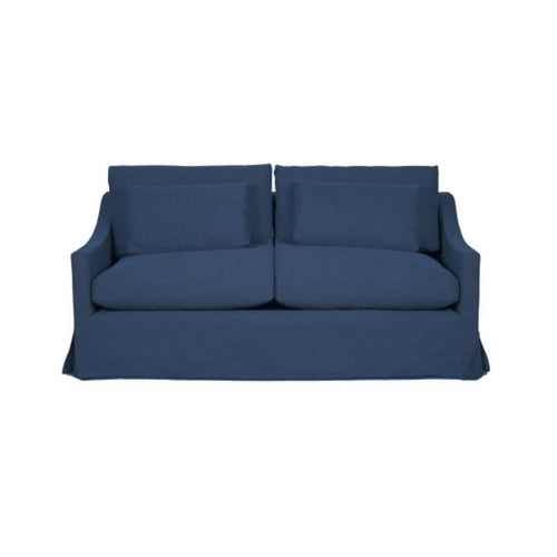 Newport 2.5 Seater Sofa - Denim Blue (With Slip Cover)