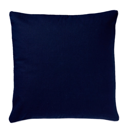 Navy Cushion With White Piping 60x60cm Homewares nz