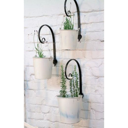 Winter White Iron Buckets - Large Homewares nz