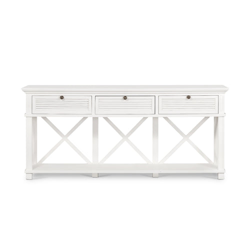 Rhode Island 3 Drawer Hall Console Table - White