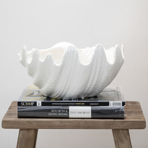 Clam Bowl White 40cm - Large