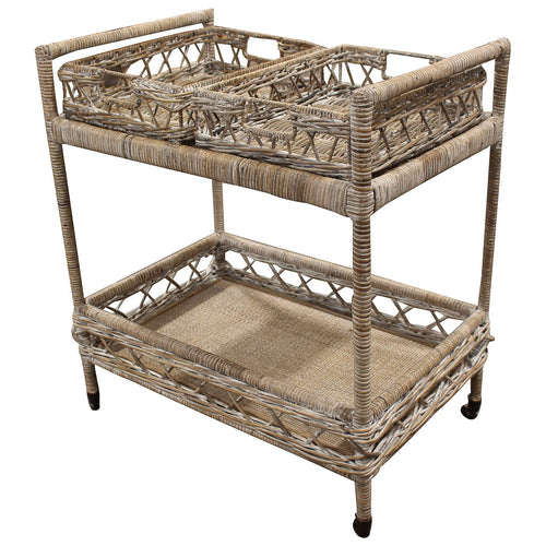 Bahamas Rattan Drinks Trolley homewares nz
