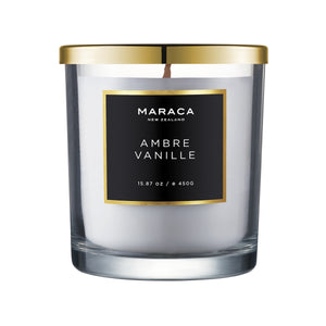Maraca Ambre Vanille Luxury Candle 450g  Homewares nz