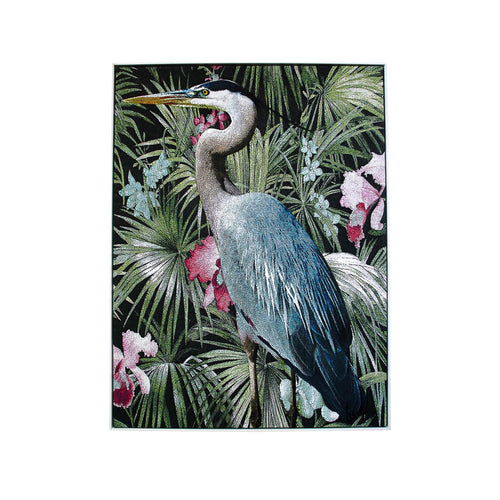 Blue Heron Print In White Frame