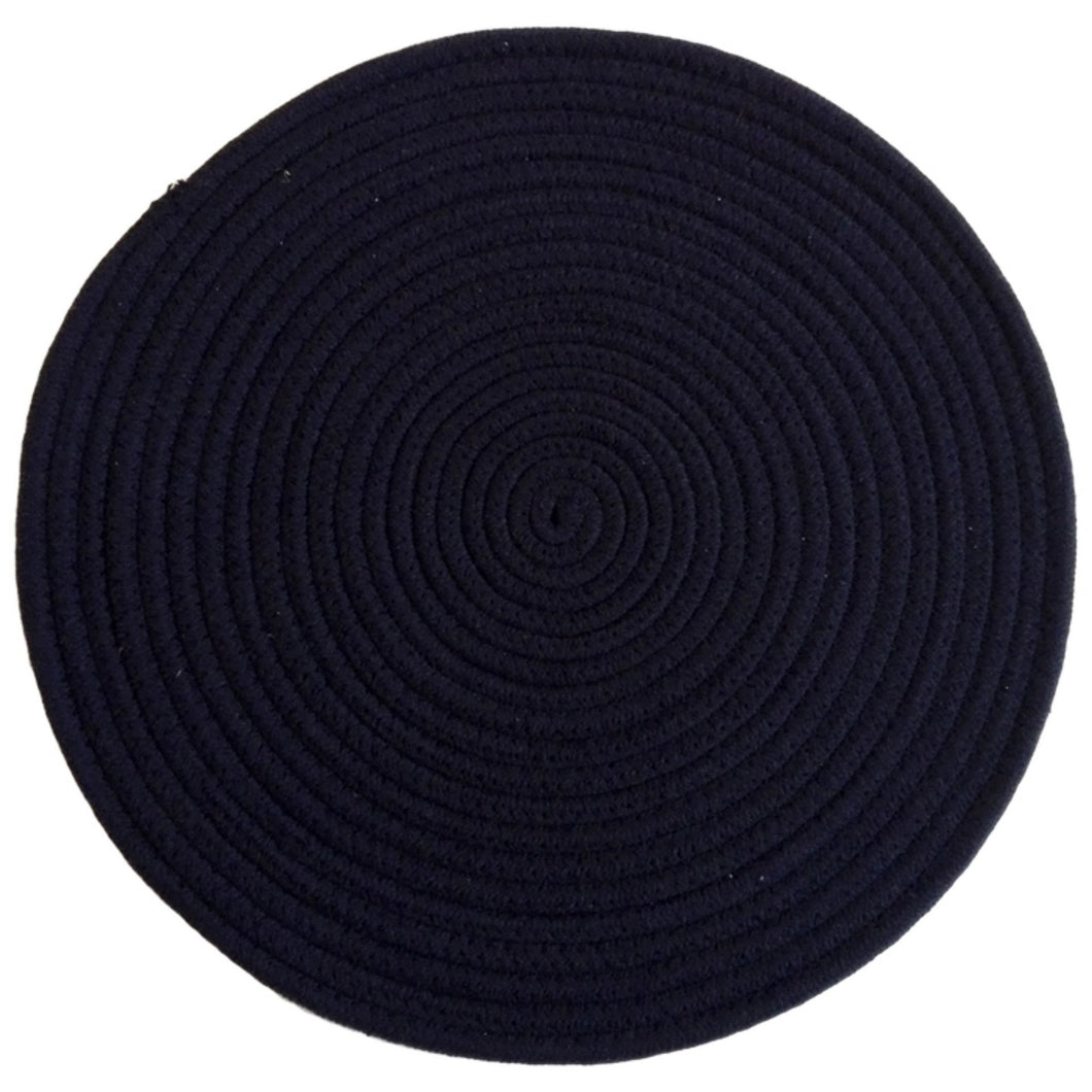 Round Woven Placemat - Navy  Homewares nz