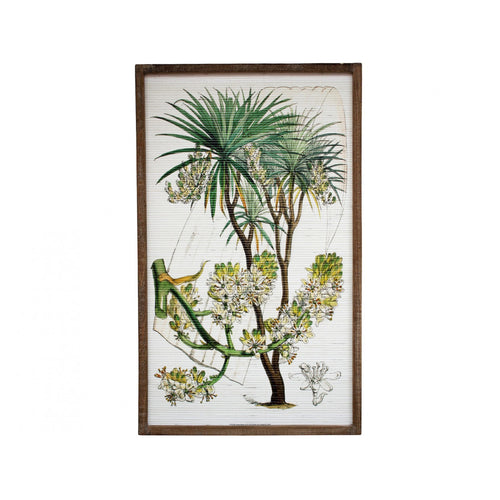 Flowering Tree On Bamboo In Natural Frame