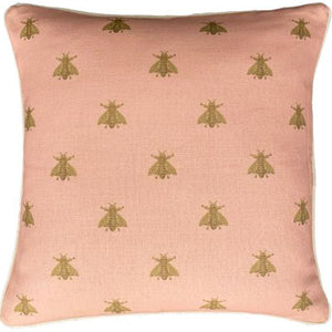 Golden Bee Cushion 50x50cm - Pink