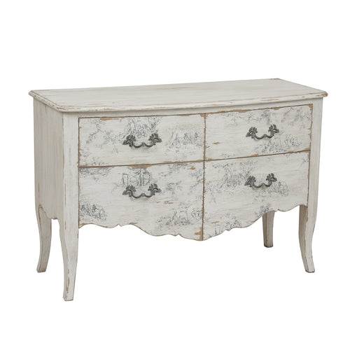 Parisian Florentin 4 Drawer Chest - Large