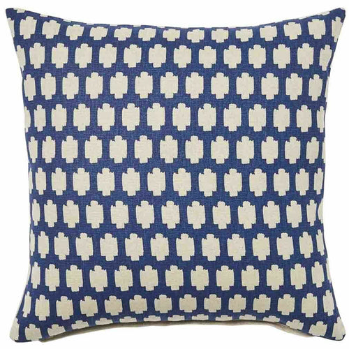 Madi Cushion 50x50cm - Navy & Natural Homewares nz