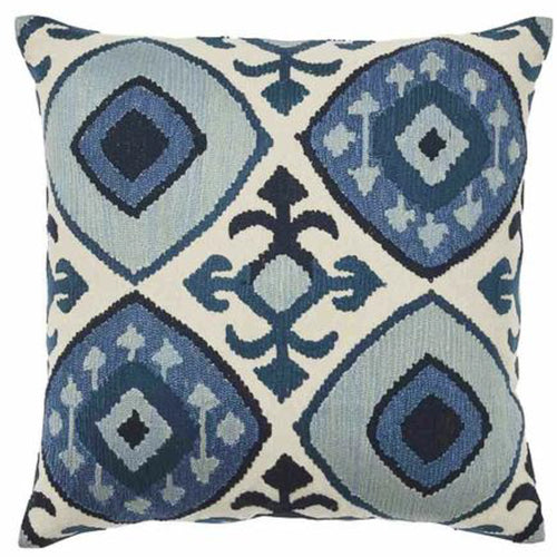 Kazu Cushion 50x50cm - Blue & Natural Homewares nz