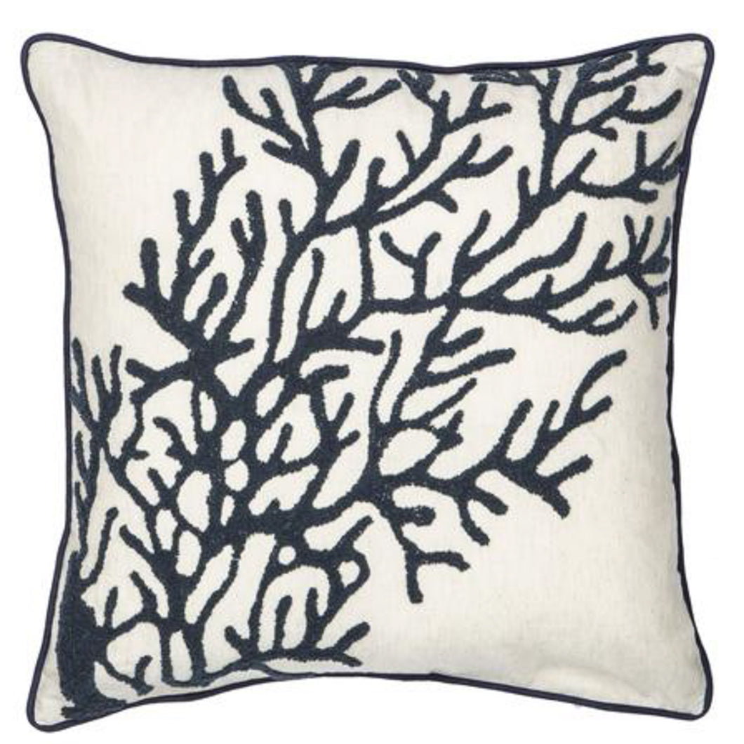 Reef Cushion 50x50cm - Blue and White