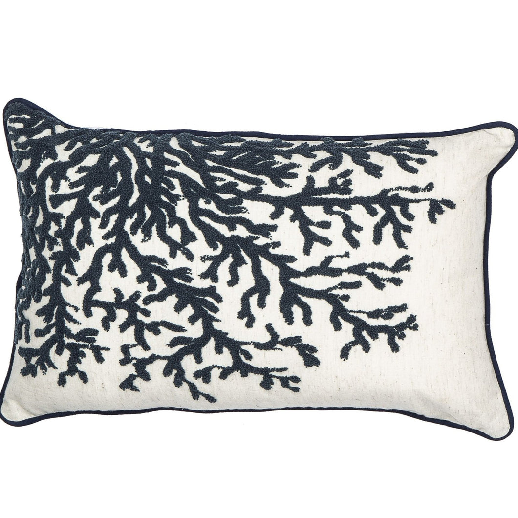 Reef Cushion 50x30cm - Blue & White