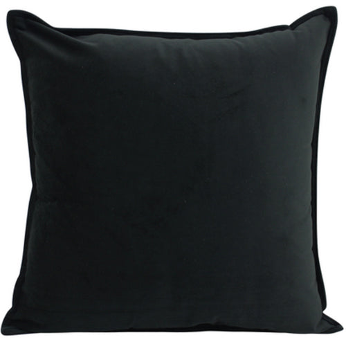 Velvet Cushion Black 55x55cm