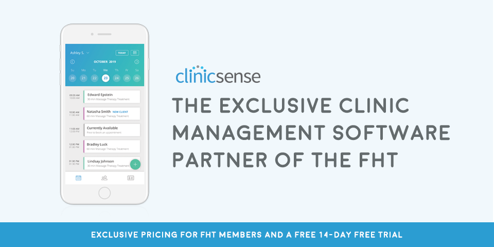 Pictured: ClinicSense graphic illustrating discount for FHT members