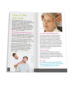 Indian head massage leaflets