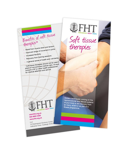 Image of FHT soft tissue therapies leaflets.
