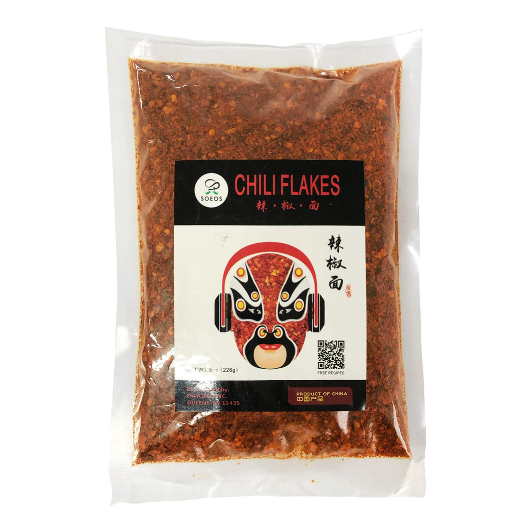 Soeos Sichuan Pepper Red Chili Flakes, Chili Oil, 8 oz