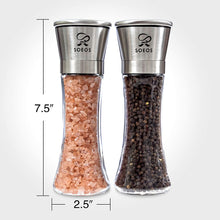 Soeos Stainless Steel Salt and Pepper Grinder Set, 2 Pack