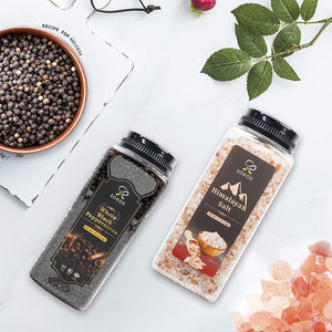 Soeos Himalayan Salt + Whole Black Peppercorns