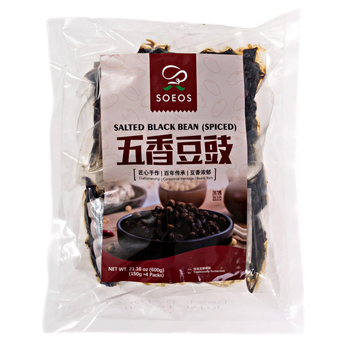 Soeos Chinese Douchi - Fermented Black Beans.