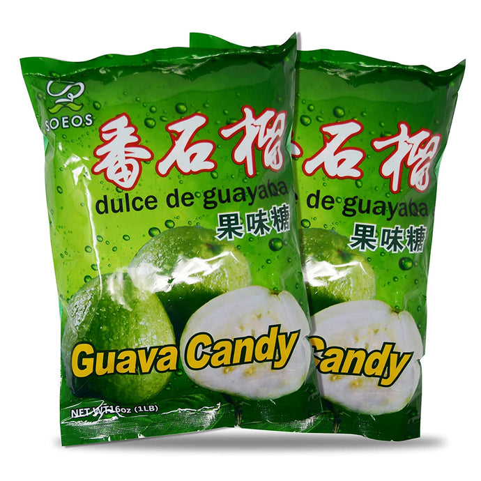 Soeos Chinese Guava Candy, Guava Hard Candy
