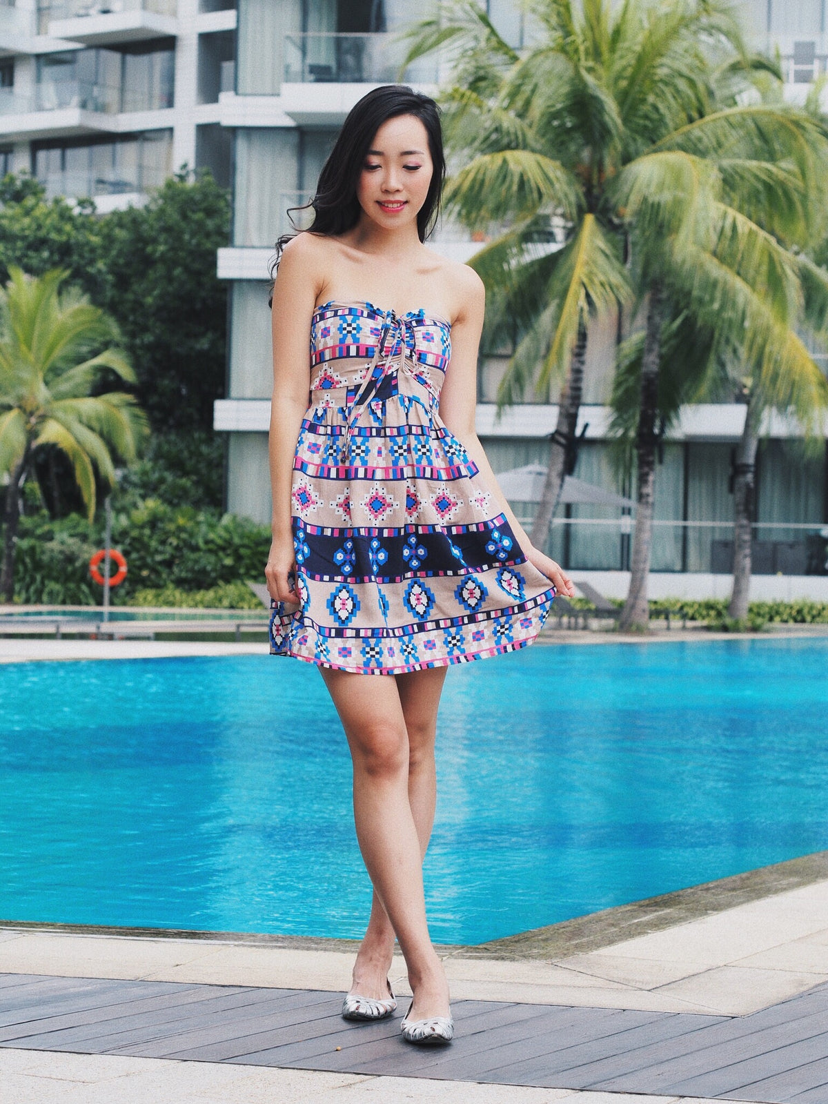 Tropical Print Chill Dress