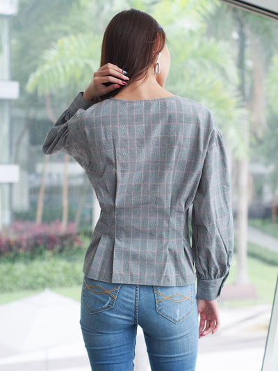Luna Blouse Pink Stripes