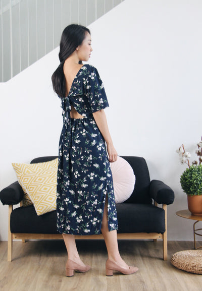 Summer Flowers Backtie Dress