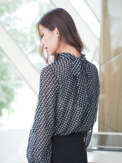 Odette Sheer Blouse