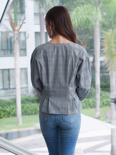 Luna Blouse Blue Stripes
