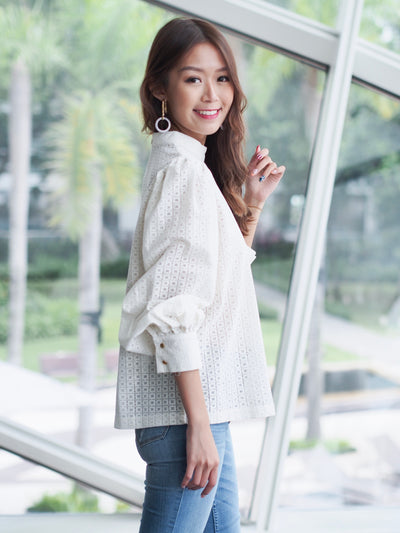 Romantic Samantha Blouse White