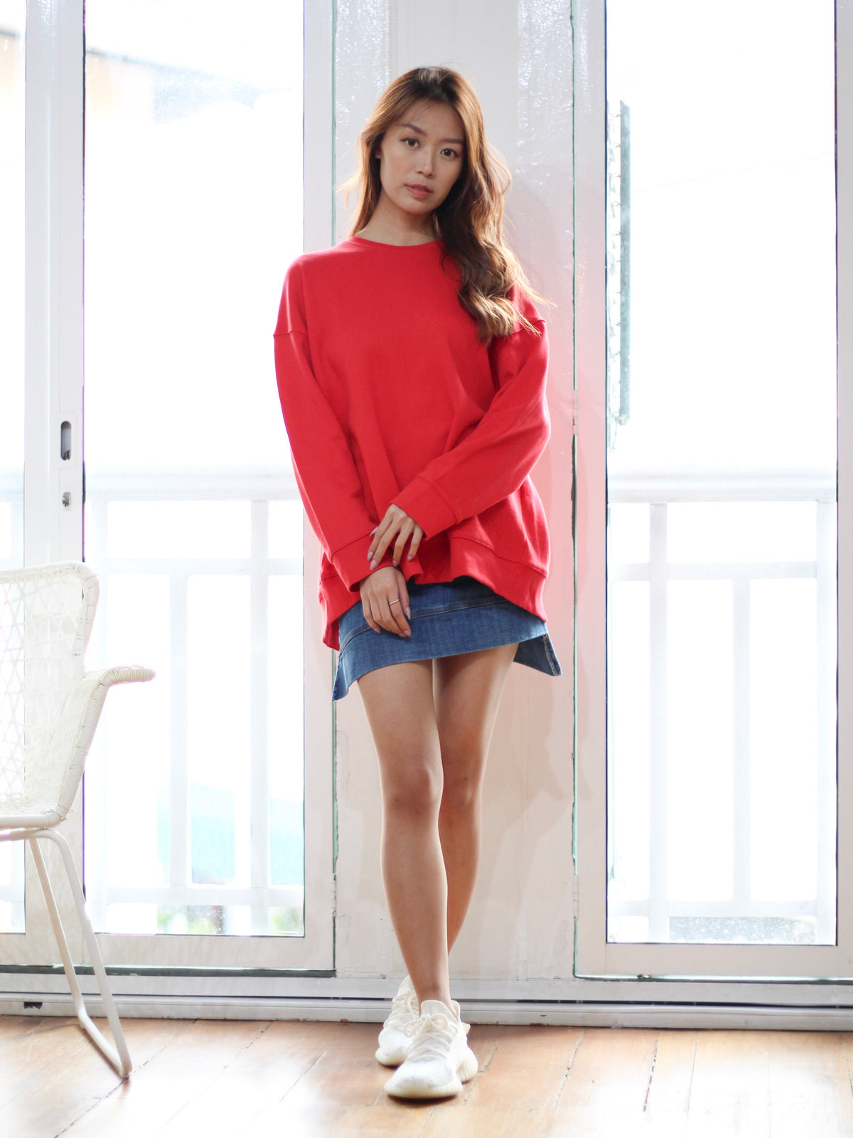 Odila Sexy Back Pullover Red