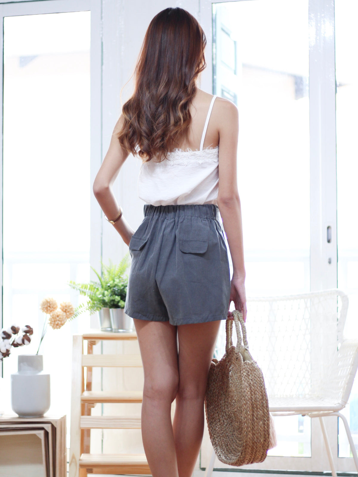 Flor Cotton Shorts