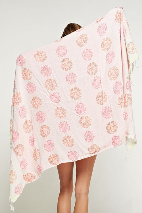 Medallion Print Towel