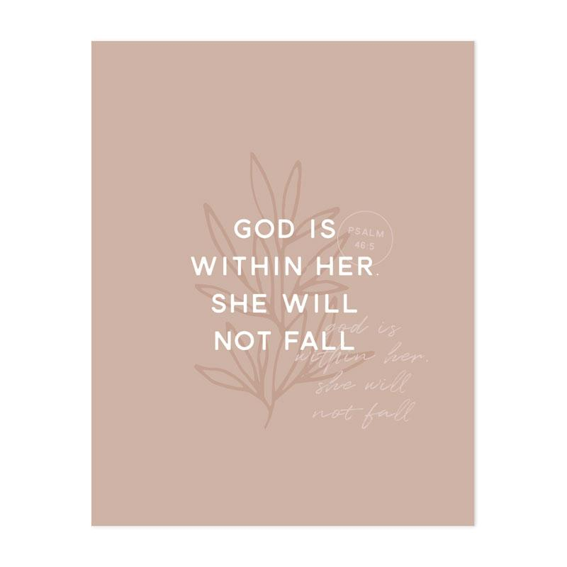 God Is Within Her Print