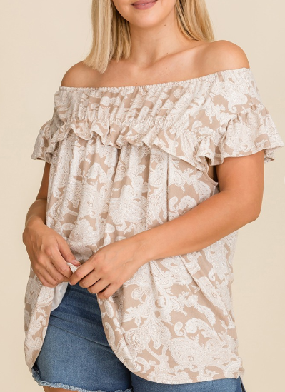 Worry Less Ruffle Top Curvy