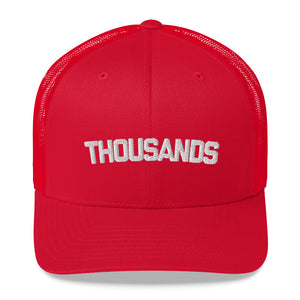 """THOUSANDS"" red/white Trucker Cap"