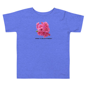 """DTBD"" (Rose Garden) blk letters Toddler Short Sleeve Tee"