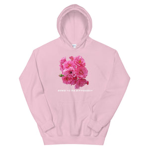"""DTBD"" (Rose Garden) wht letters Unisex Hoodie"