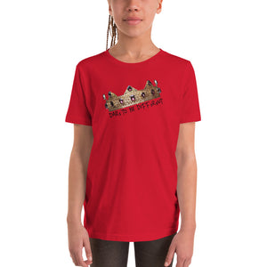 """DTBD"" (Crown) blk letters Youth Short Sleeve T-Shirt"