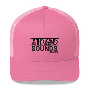 """ATS Records"" blk Trucker Cap"
