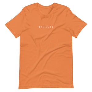 """Weekend"" orange tee"