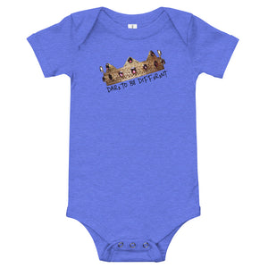 """DTBD"" (Crown Blk letters) Infant/Toddler T-Shirt"
