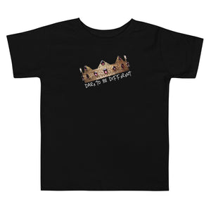 """DTBD"" (Crown) wht letters Toddler Short Sleeve Tee"