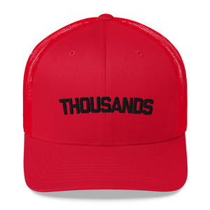 """THOUSANDS"" Red Trucker Cap"