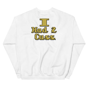 """Sorry Mama"" (Front & Back) White Sweatshirt"